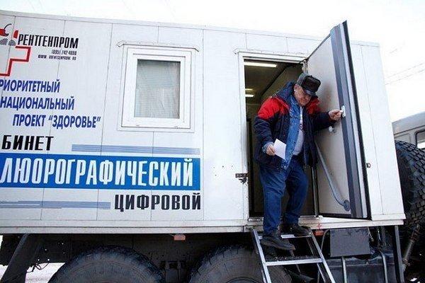 В Ульяновске работает передвижной флюорограф